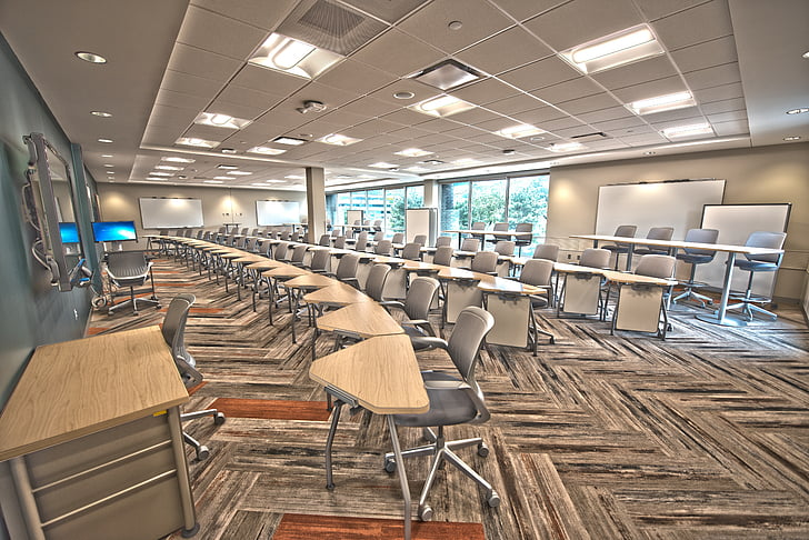 lecture, lecture hall, classroom, study, study hall, furniture, school