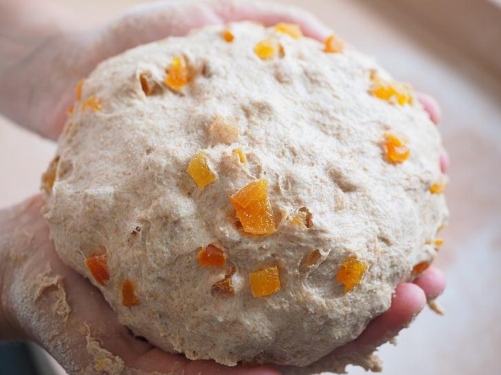 хляб, Пече своя собствена, Печете, Споявам, тестото, Кайсия хляб, aprikosentückchen