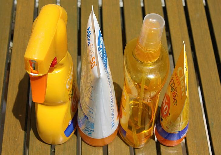 apsaugos nuo saulės, odos priežiūra, apsaugos, losjonas, vasaros, kremo, blokas