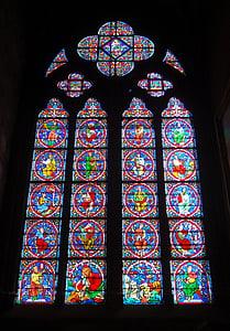 Notre-dame, París, França, Catedral, Dame, Notre, l'església