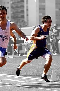 löpare, Race, Sprint, konkurrens, idrott, Utomhus, atletisk