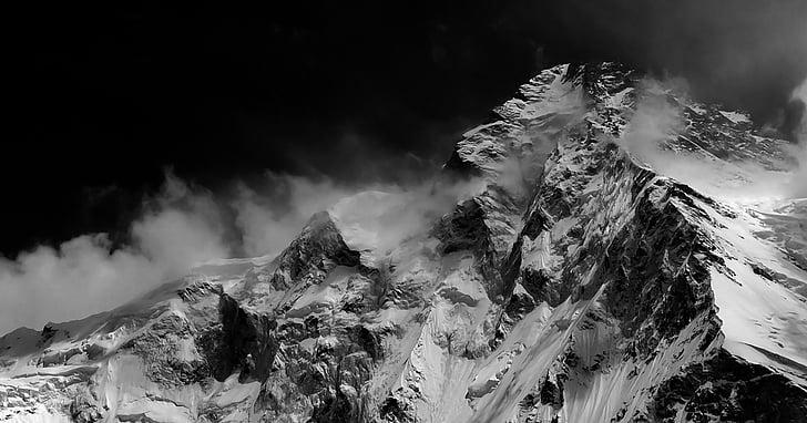 montanhas, natural, vista maravilhosa, montanha, natureza, pico de montanha, neve