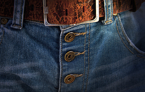 安全带, 扣, 徐德明, 牛仔裤, 按钮, 黄铜, 时尚