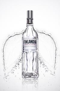 伏特加, 广告, 创意, 饮料, 玻璃, 一方, 酒吧