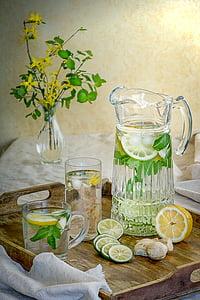 beguda, beguda freda, begudes, refresc, fresc, l'aigua, menta
