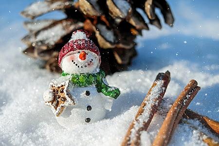 homem de neve, neve, Inverno, Branco, frio, invernal, Eismann