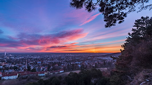 Alba, paisatge, cels, morgenstimmung, cel, sol de matí, Alba d'hivern