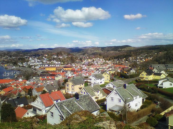 Egersund, Norsko, město, město, městský, dům, Domů