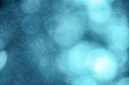 pluja, neu, fons, tempesta, efecte, tardor, l'hivern