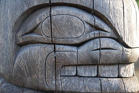 totem, Whale, Tribal, traditionella, design, Haida, inhemska