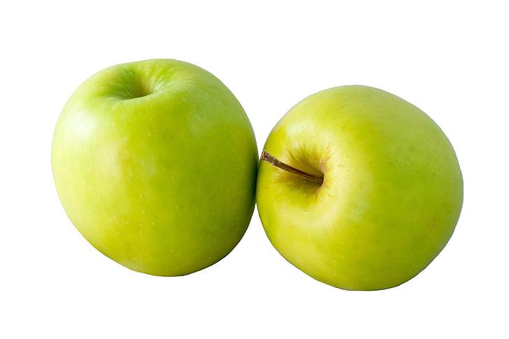 pomme, pommes, fruits, vert, frais, Sweet, Golden delicious