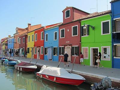 บ้าน, สี, กิโลเมตร, เวนิส, อิตาลี, ช่อง, น้ำ