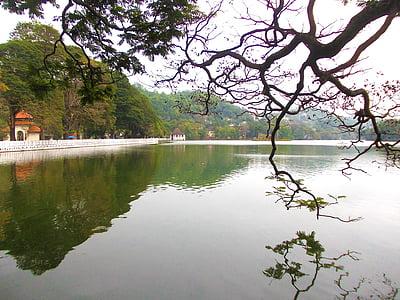 Kandy jazero, jazero, Kandy, Srí lanka, mawanella, Ceylon