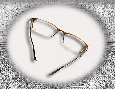แว่นตา, ดู, อ่าน, เลนส์, กรอบแว่นตา, คมชัด, sehhilfe