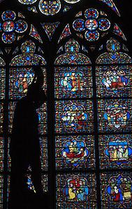 l'església, vidrieres, màrtir, Sant, vidre, finestra, religió