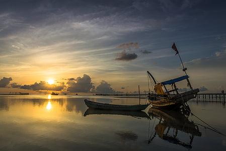 日の出, ハムニン, フーコック, 島, ベトナム, 風景, 旅行