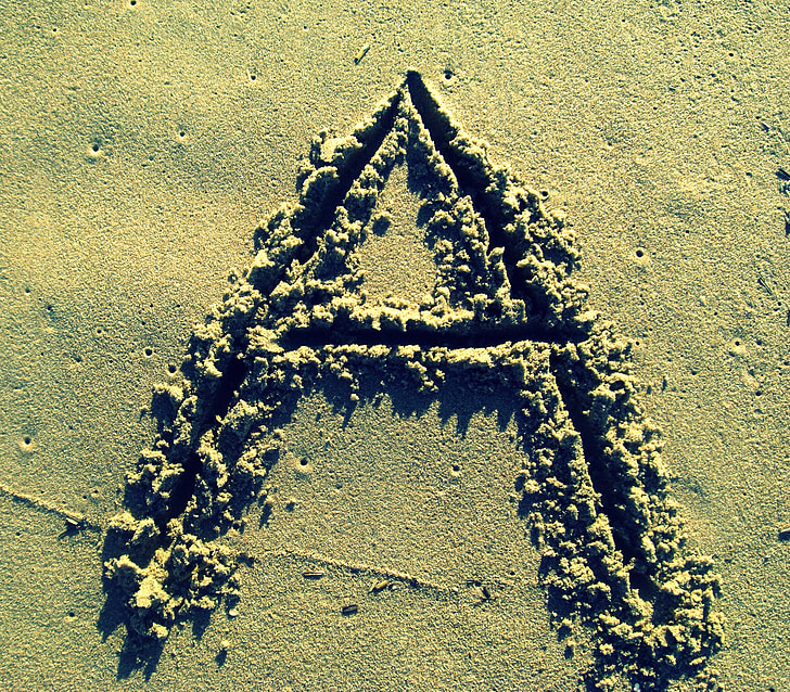 täht a, liiv, Stick, Beach, tähestik
