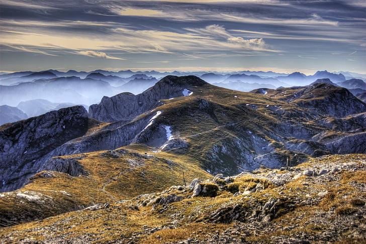 hdr, 산, 오스트리아