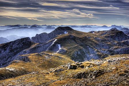 HDR, muntanyes, Àustria
