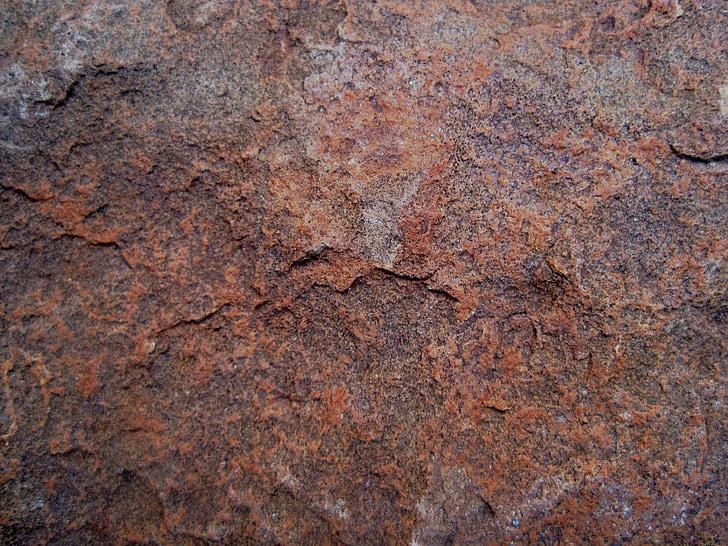 virsma, brūns, sarūsējis, gluda, klints, akmens, ģeoloģisko
