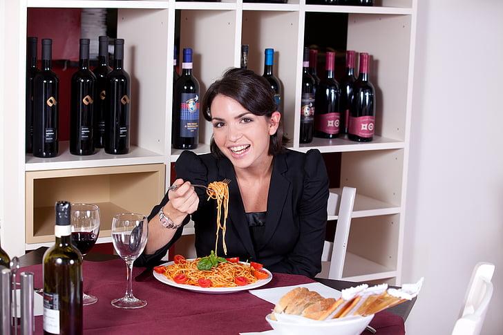Restaurant, pastes, menjar, aliments, salsa, cuina, dinar