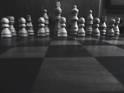 black, white, modern, home, chess, strategy, competition