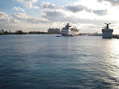 kryssningsfartyg, hamn, docka, Cruising, Florida, resor, semester