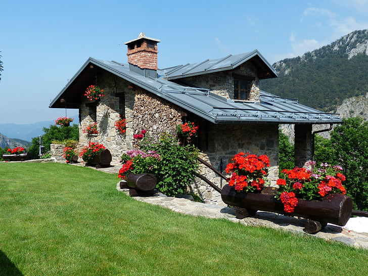 casa de vacances, casa d'estiu, casa, Masia, casa de camp, edifici, casa de vacances