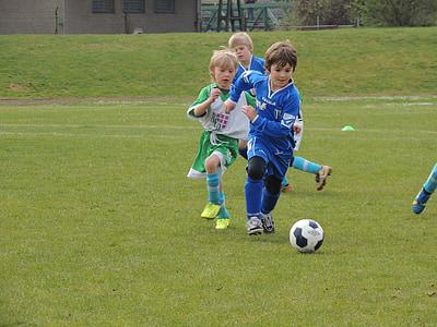футбол, мач, деца, топка, играта