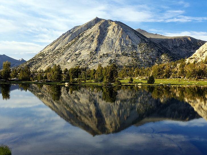 paisatge de muntanya, escèniques, l'aigua, horitzó, pic, reflexió, desert