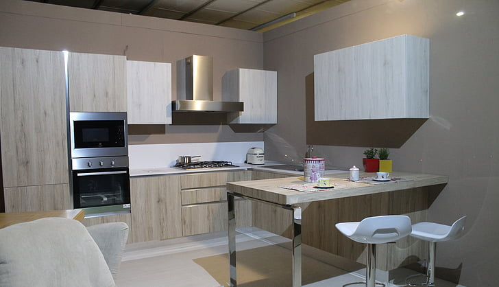 kitchen, modern kitchen, furniture, house, interior, cook, arredo