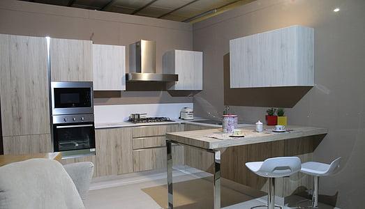 cuina, cuina moderna, mobles, casa, interior, cuinar, arredo