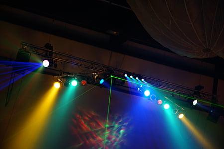 light, lamp, spotlight, fog, event, lighting, technology