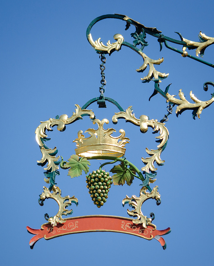 Crown, embleem, sepakunst, sepistatud, kilp, veini, põllumajanduse