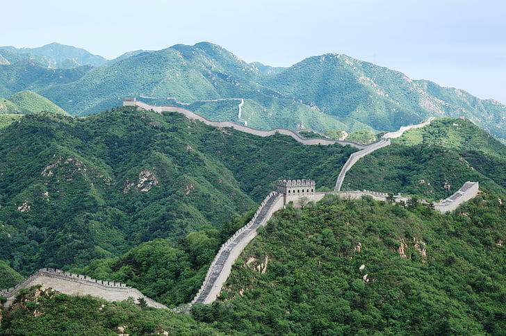a grande muralha, China, Badaling, montanha, scenics, Cordilheira, natureza
