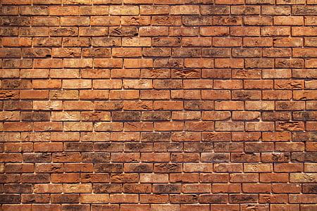 czerwony, tło, Struktura, murarskie, Cegła, stary, kamień