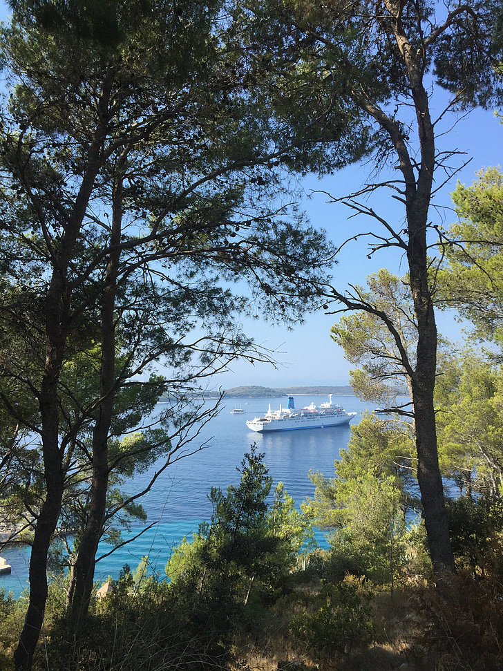 Medelhavet, kryssning, fartyg, Holiday, kryssningsfartyg, semester kryssning, kusten