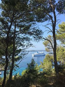 Vidusjūras reģiona, kruīza, kuģis, brīvdiena, kruīza kuģis, brīvdienu kruīza, krasta līnijas