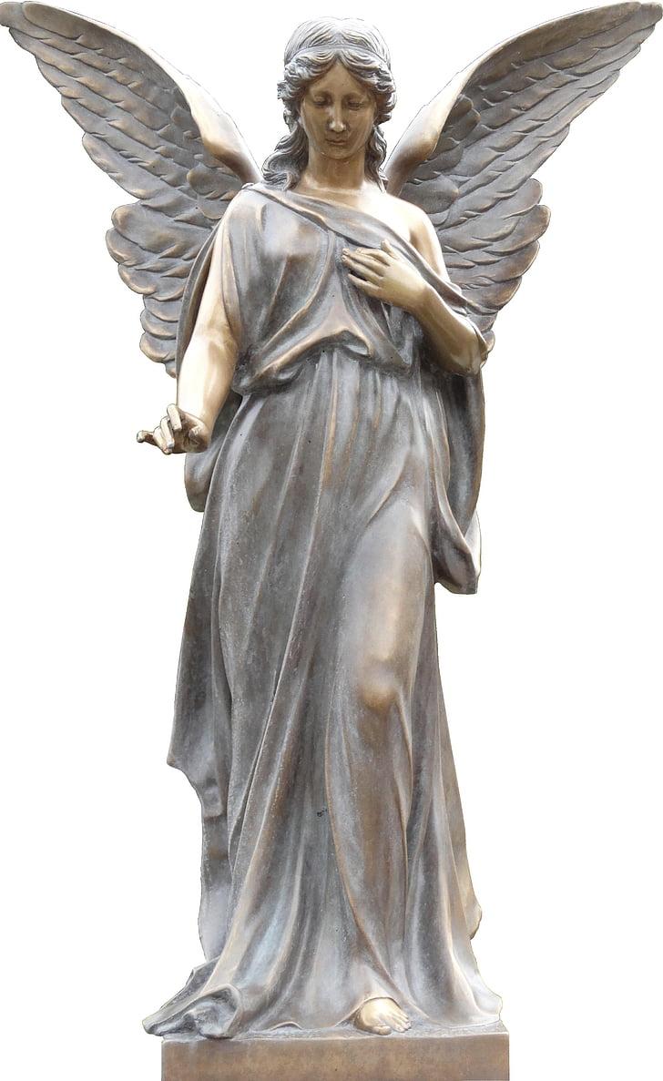 ängel, ängel staty, staty, konst, skulptur, monumentet, Wing