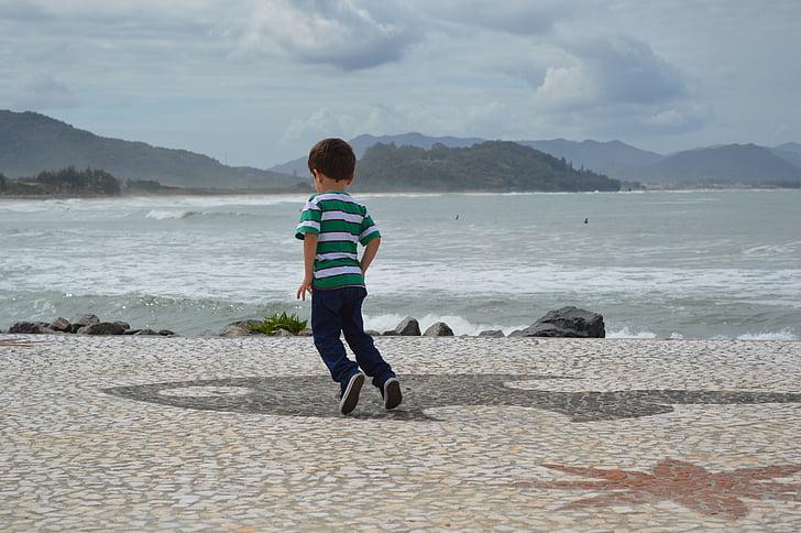 nen, saltant, nens, jugar, natural