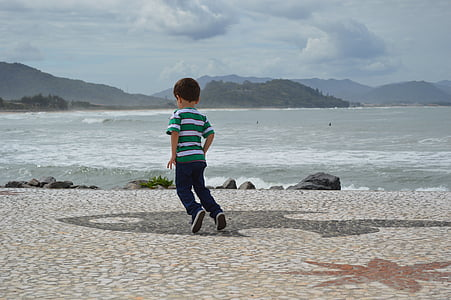 child, jumping, children, play, natural