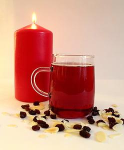 Nadal, Espelma, vi calent, ambient, beguda, aliments