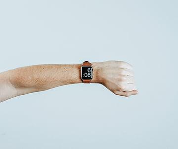 人, 手, 時計, 時間, 技術, 拳, 壁