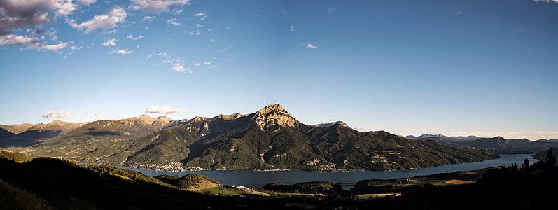 clouds, daylight, lake, landscape, mountain, nature, outdoors