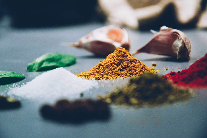 espècies, herbes, aliments, espècies i herbes, cuina, fresc, ingredient