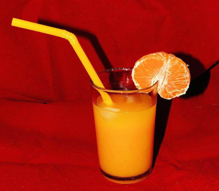 suc de taronja, vidre, Frisch, Sa, vitamina c, beguda, taronja