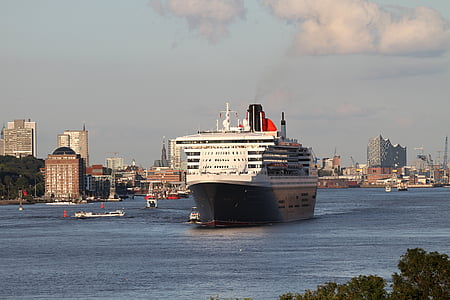 dronning Maria, Hamburg, Elbe, dronning, skipet, Cruise, cruiseskip