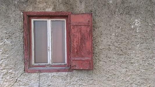 okno, Dom, stary, drewno, Architektura, ściana, budynek