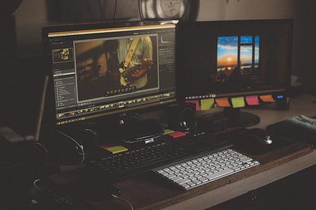 ordinador, multimèdia, estudi de so, tecnologia, comunicació, connexió, digital