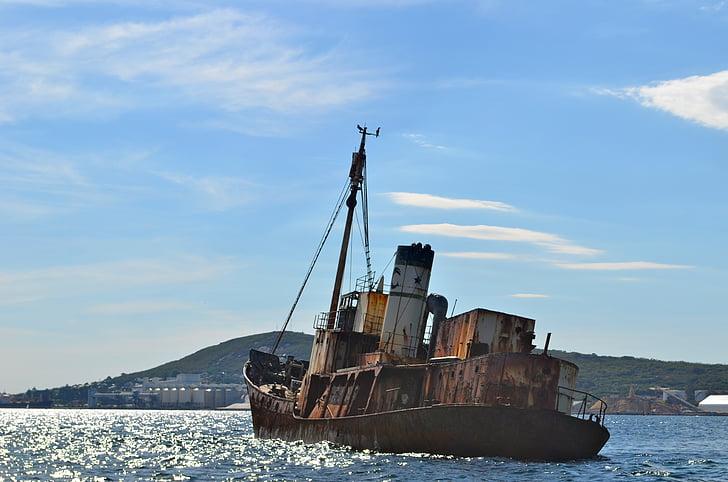 båt, fartyg, Rust, skeppsbrott, pirat, asylsökande, Whaler